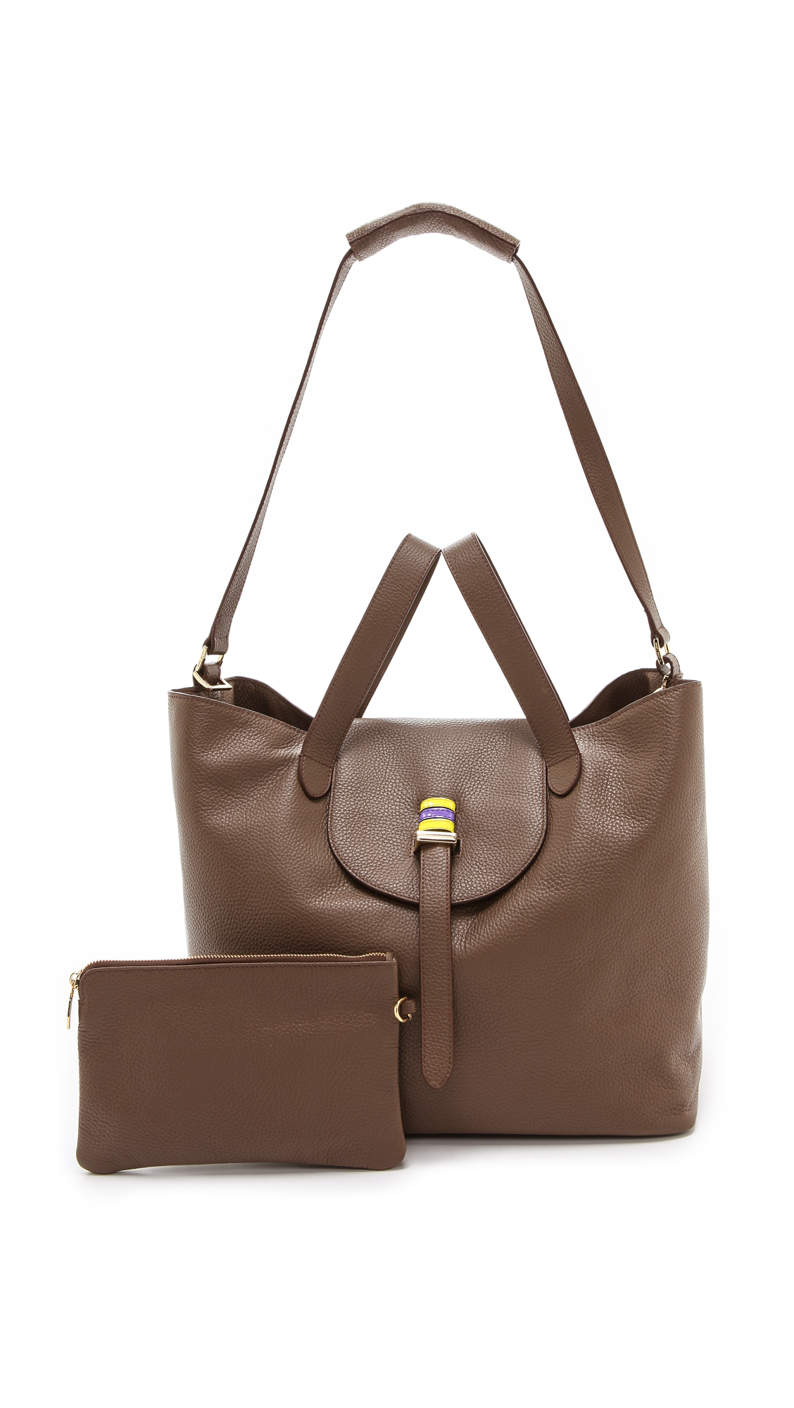 meli melo thela handbag in brown lyst. Black Bedroom Furniture Sets. Home Design Ideas