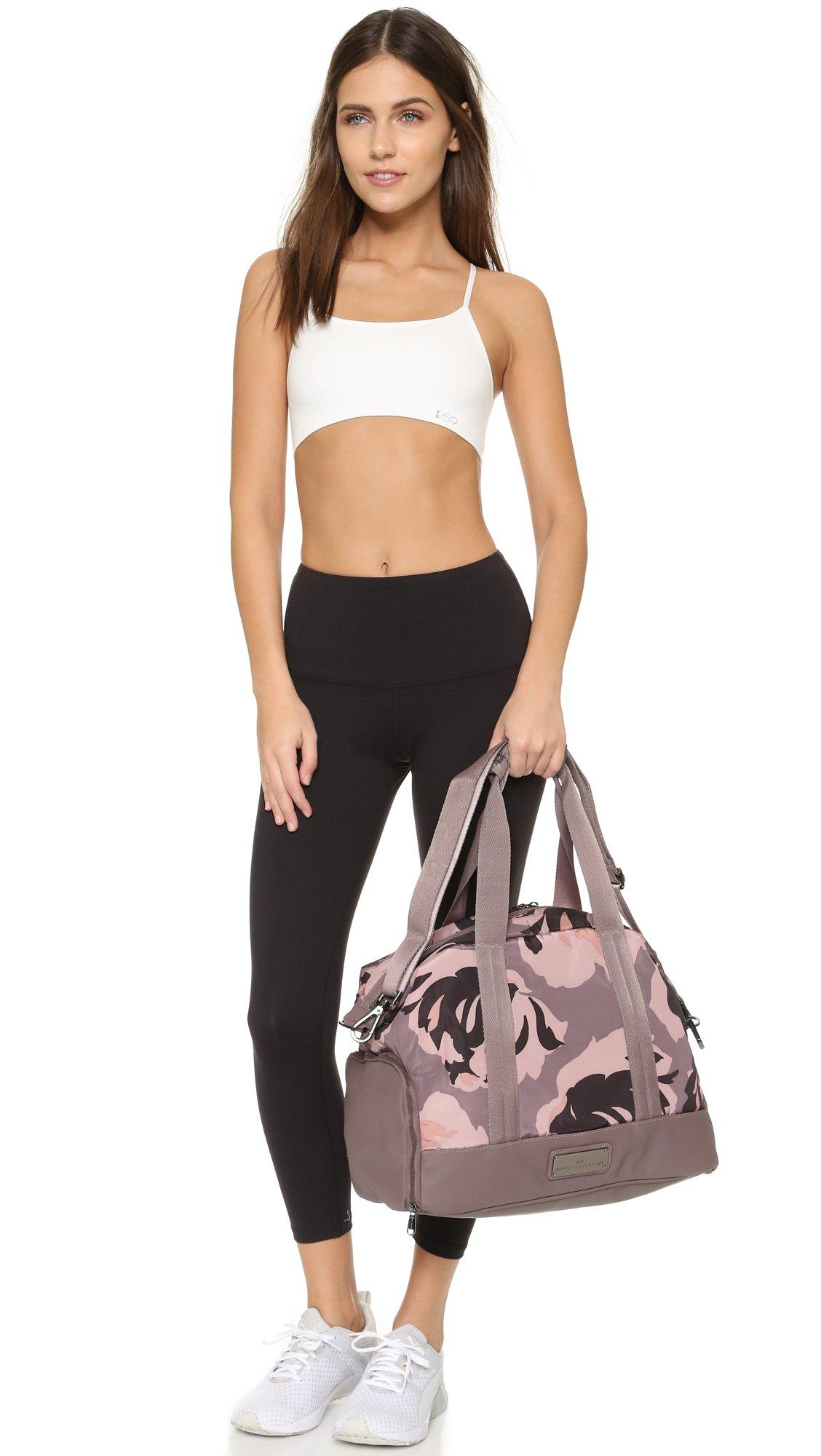 5e8ac836c9e1 Lyst - adidas By Stella McCartney Small Gym Bag - Cement Grey smoke Pink