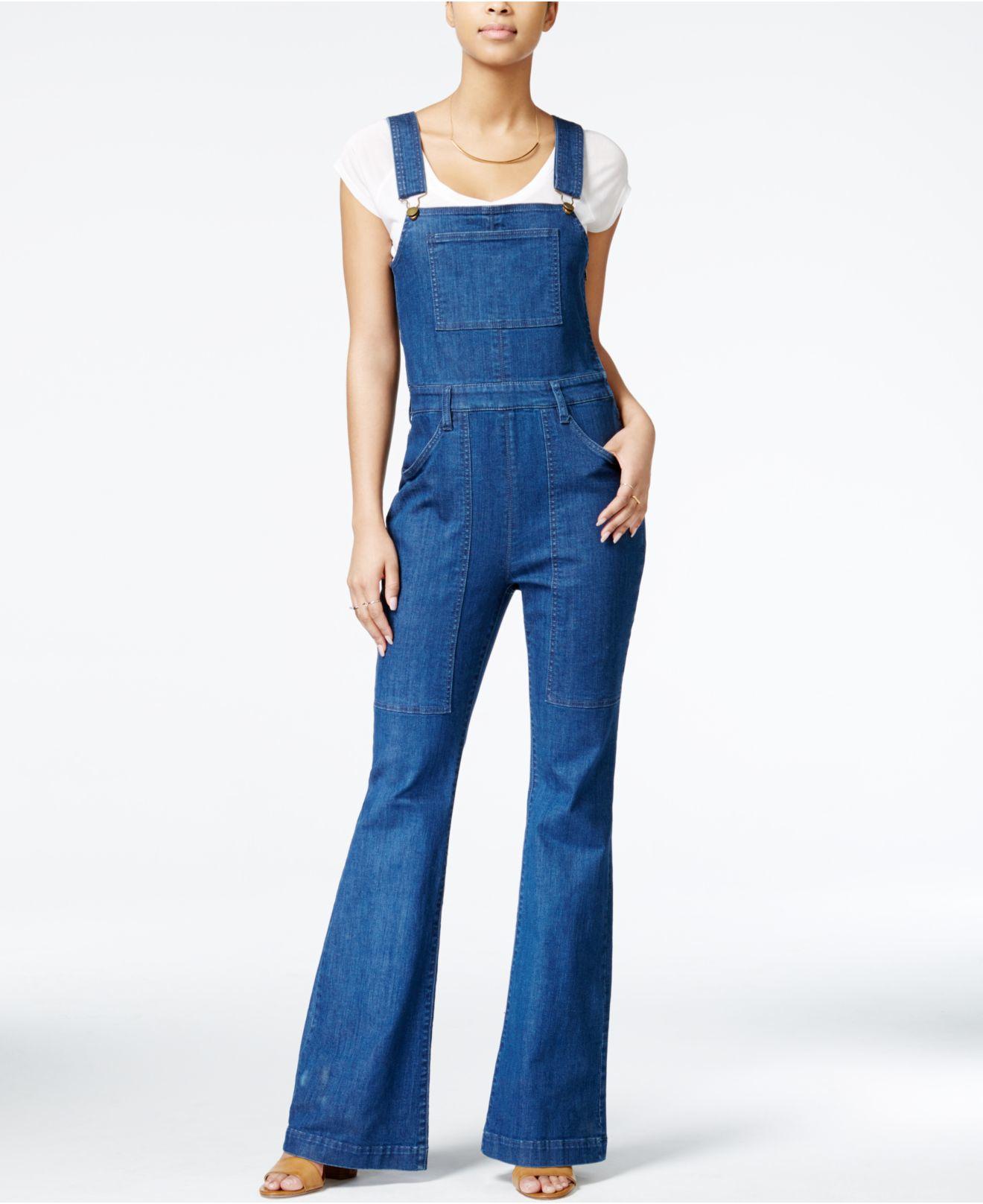03ef3ed1763d Lyst - RACHEL Rachel Roy Bell-bottom Denim Overalls in Blue