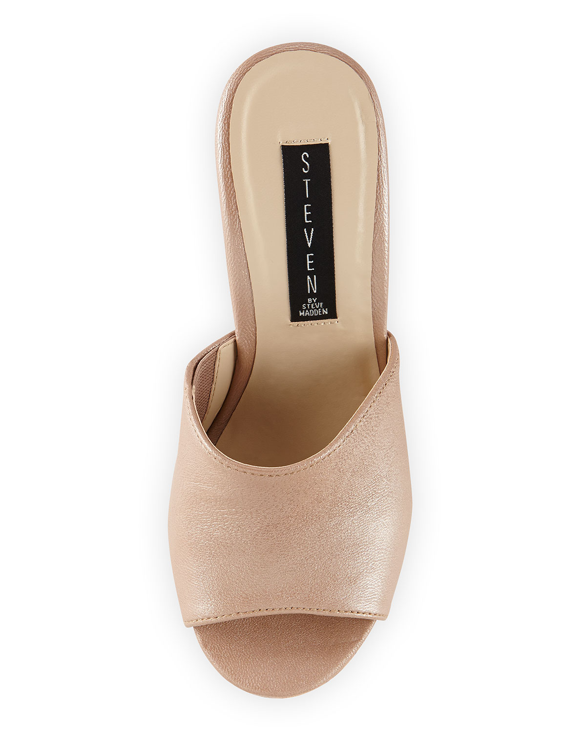 a2bff76ffd4 Lyst - Steven by Steve Madden Farahh Cork Wedge Sandal Champagne 8 in  Natural