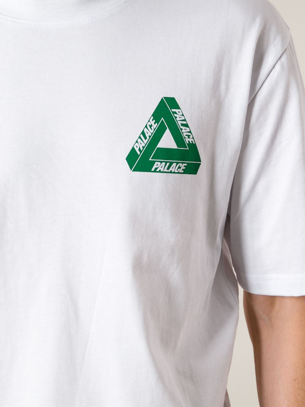 f7f506a380c Palace Triangle Logo Tshirt in White for Men - Lyst
