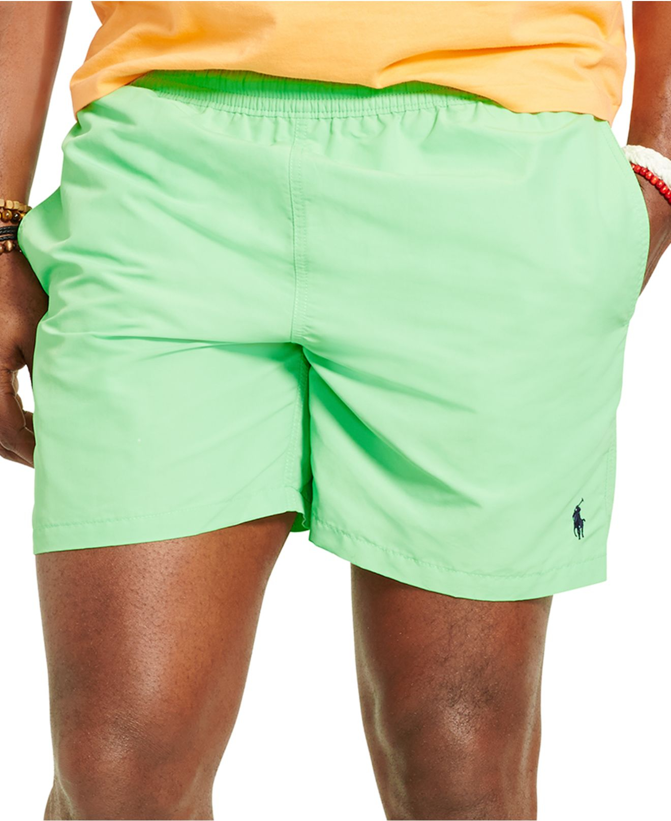 8b3e99b029 Polo Ralph Lauren Big & Tall Hawaiian Swim Trunks in Green for Men ...