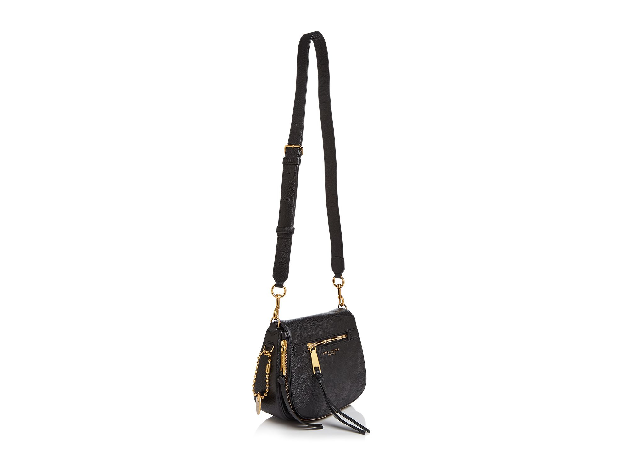 d466e0f00f71 Lyst - Marc Jacobs Recruit Small Saddle Bag in Natural