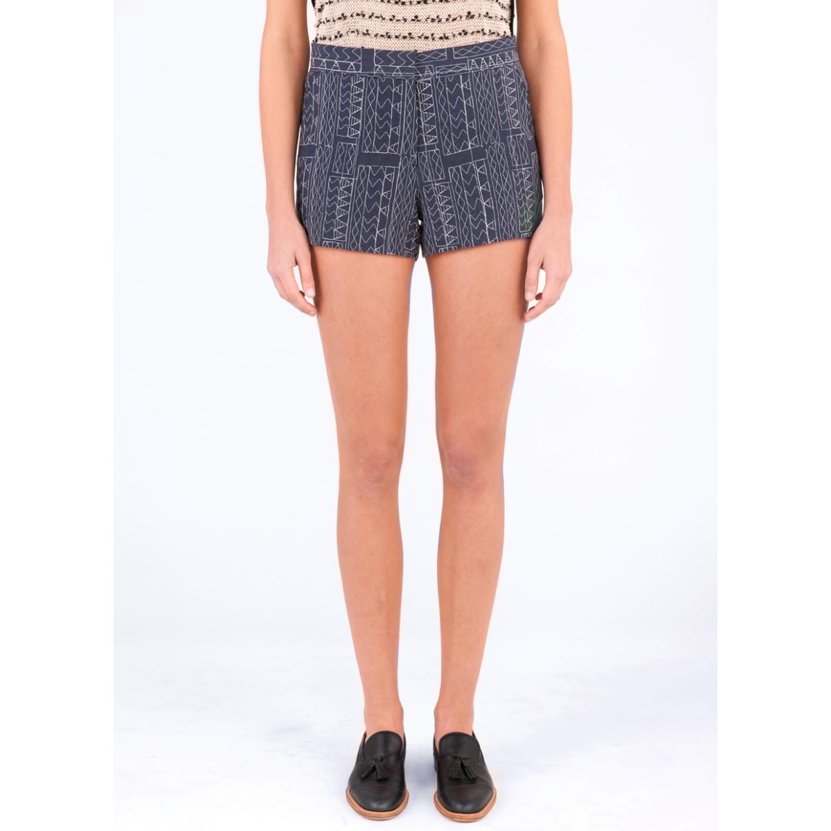 Lyst billy reid charlotte short in blue for Custom dress shirts charlotte nc