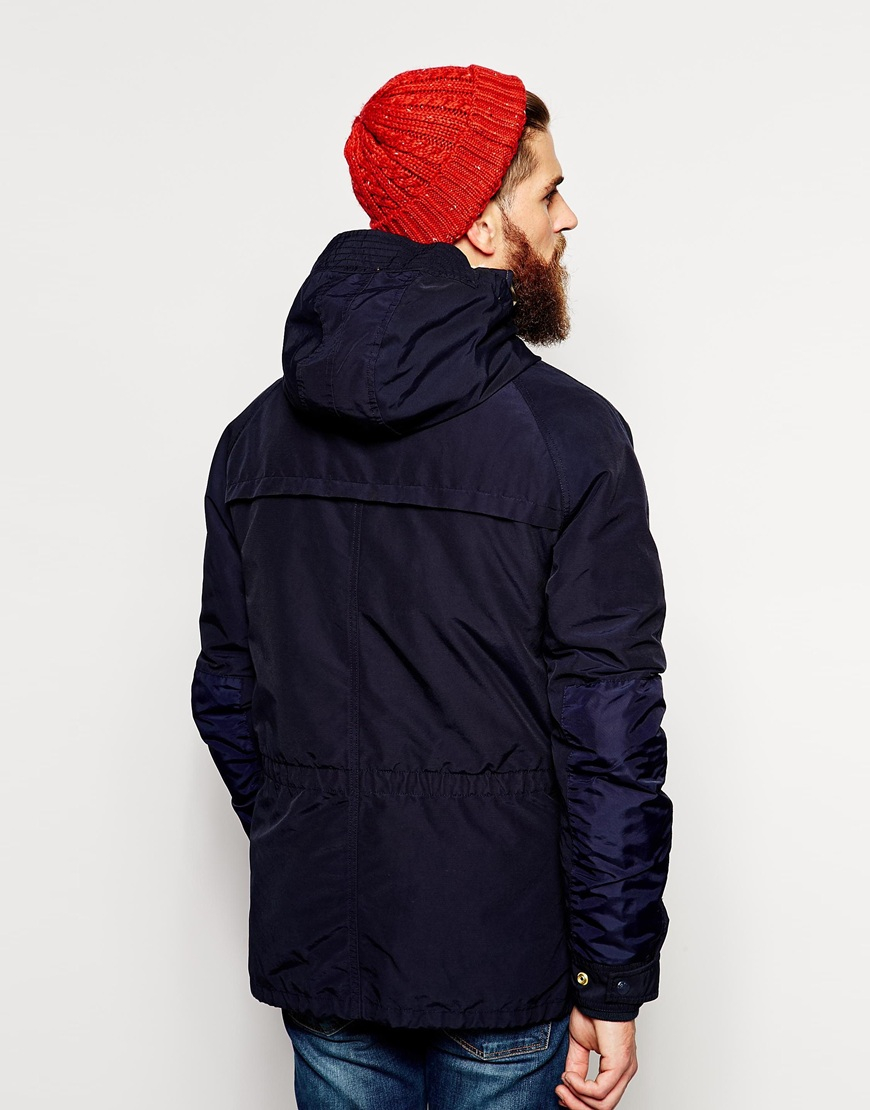 Scotch Amp Soda Expedition Parka In Blue For Men Lyst