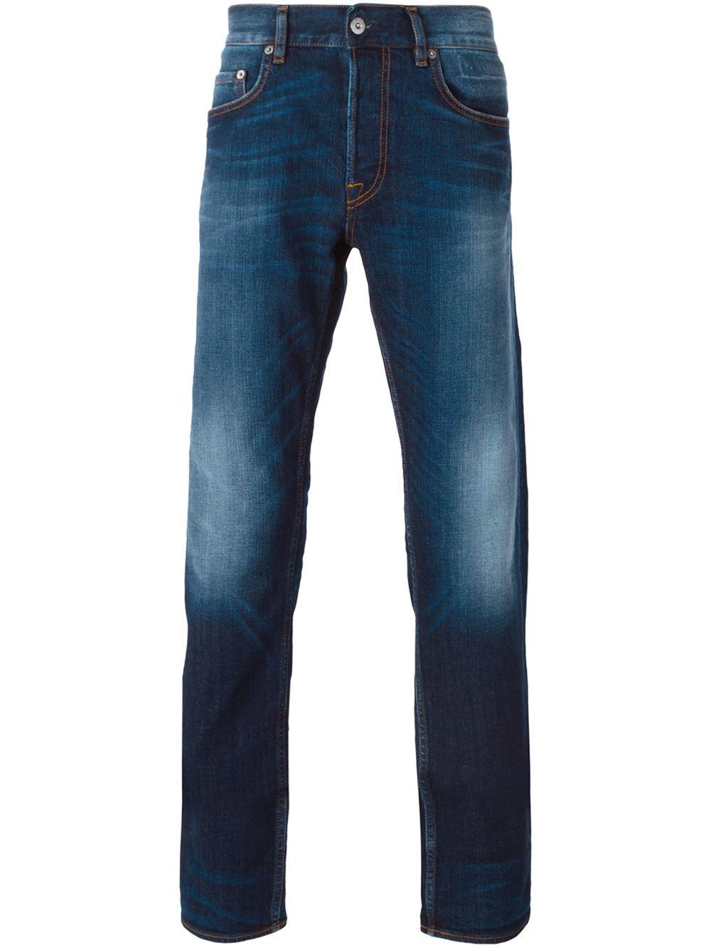 stone island slim washed jeans in blue for men lyst. Black Bedroom Furniture Sets. Home Design Ideas