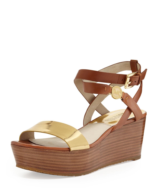 Lyst Michael Michael Kors Jalita Charm Platform Sandal