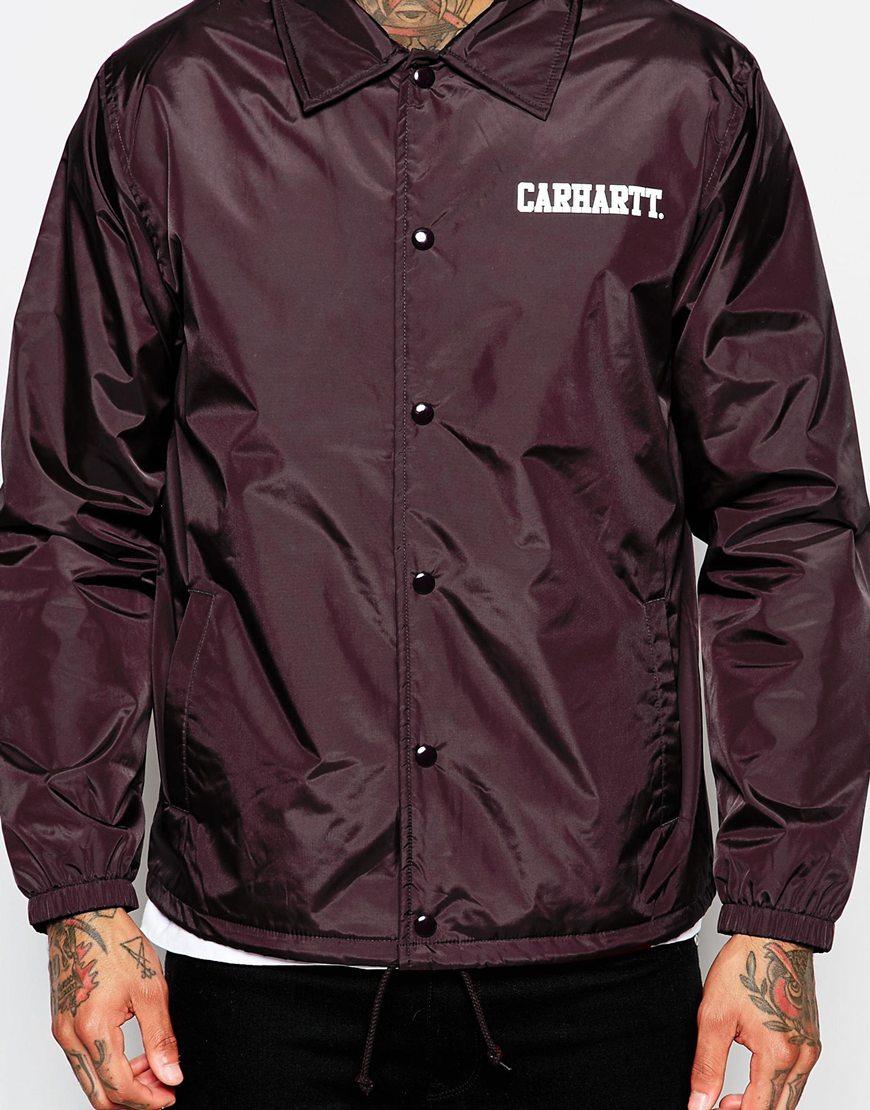 Carhartt Wip Coach Jacket In Purple For Men Lyst