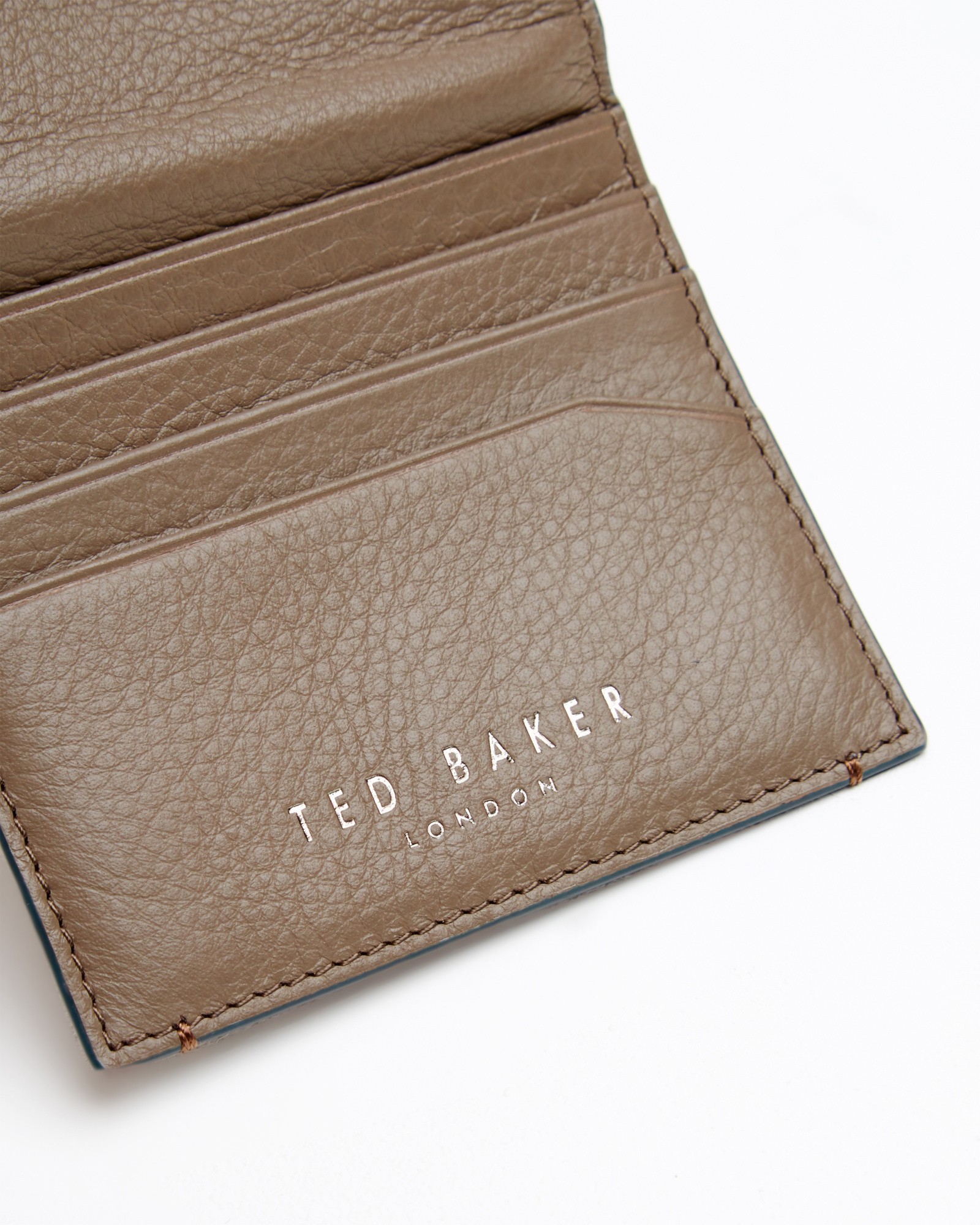 c6869cdcdf8896 Ted Baker Contrast Edge Card Holder in Brown for Men - Lyst
