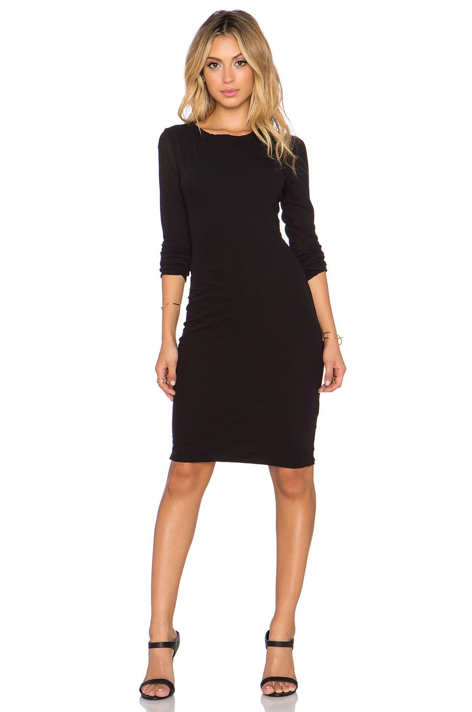 James Perse Woman Gauze Mini Shirt Dress Black Size 1 James Perse ir6f3aR1S