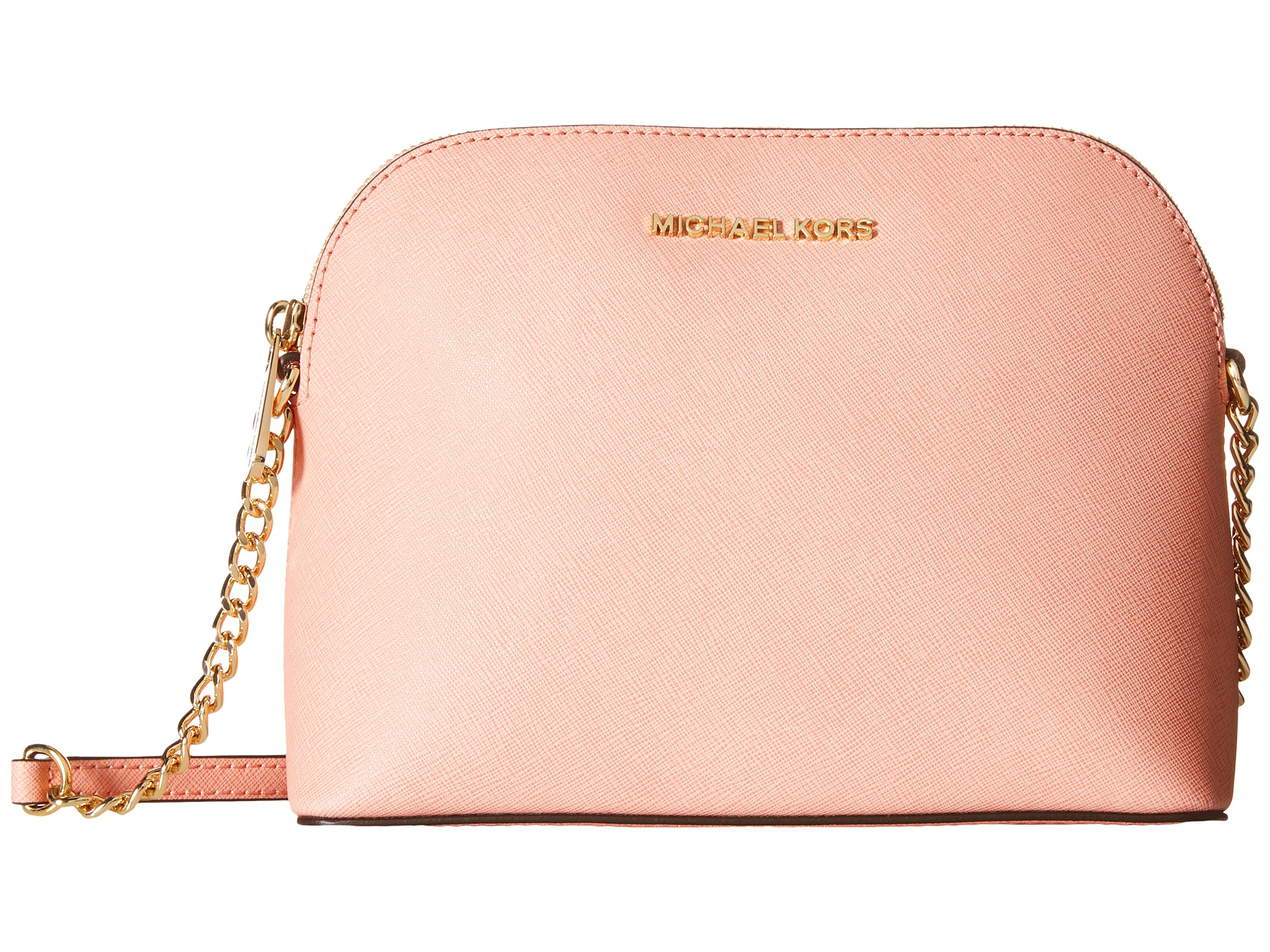 5a69d3ba918a MICHAEL Michael Kors Cindy Large Dome Crossbody in Pink - Lyst