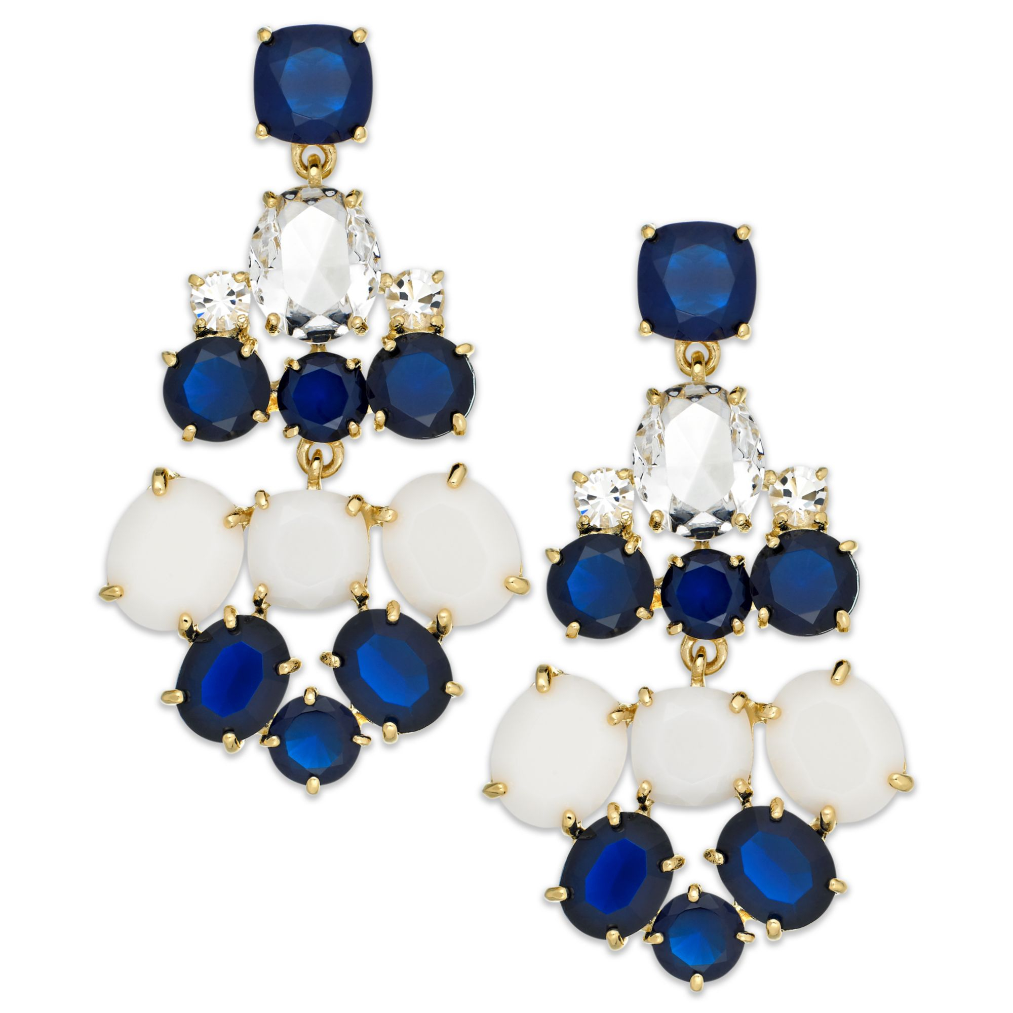 Kate spade new york Goldtone Blue And White Stone Chandelier – Gold Tone Chandelier Earrings