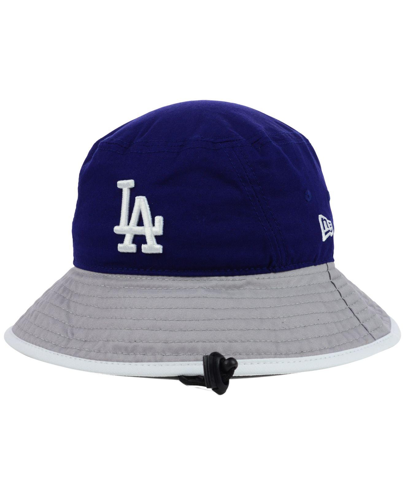 Lyst - KTZ Los Angeles Dodgers Tipped Bucket Hat in Blue for Men f559f27112c