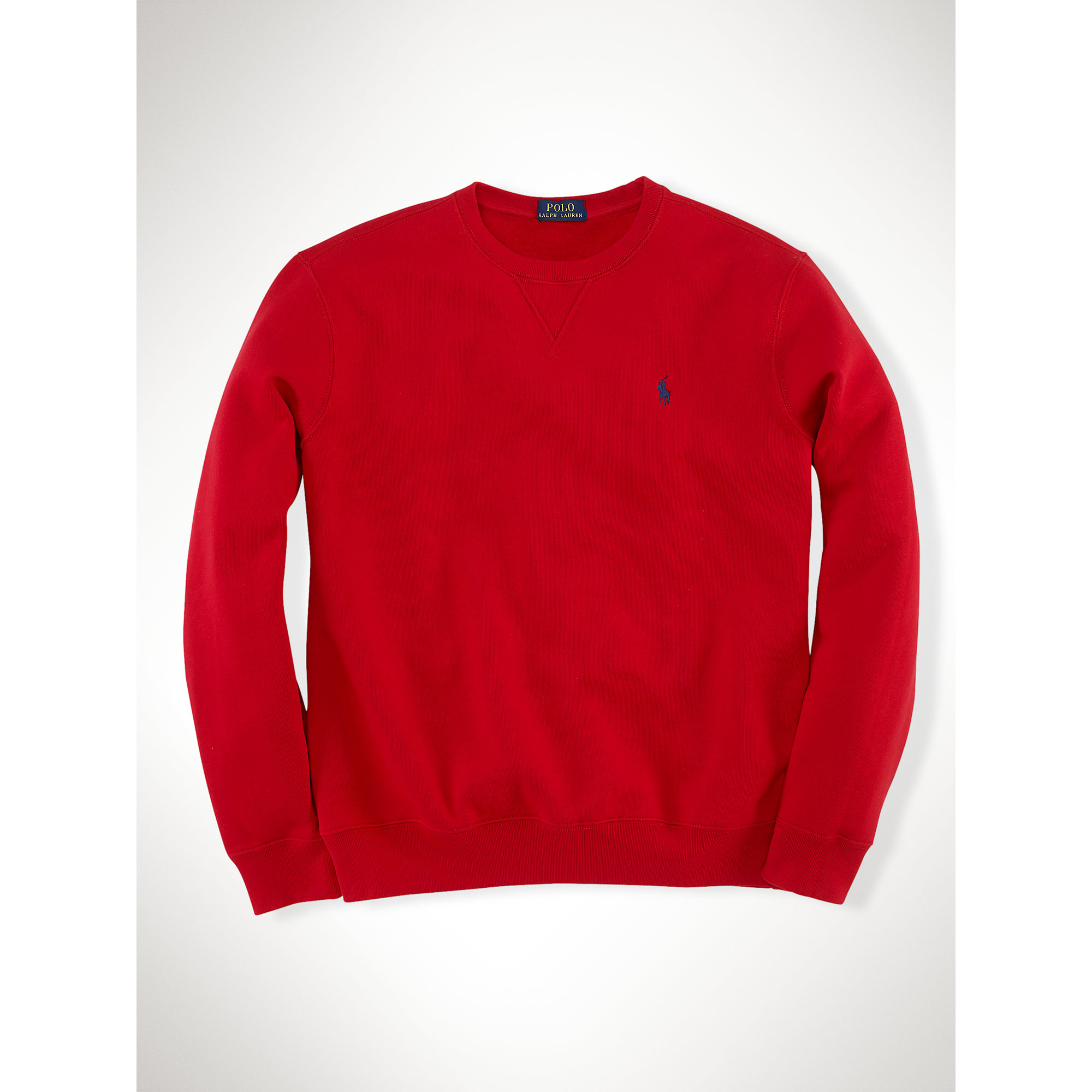 ralph lauren fleece crewneck sweatshirt in red for men lyst. Black Bedroom Furniture Sets. Home Design Ideas
