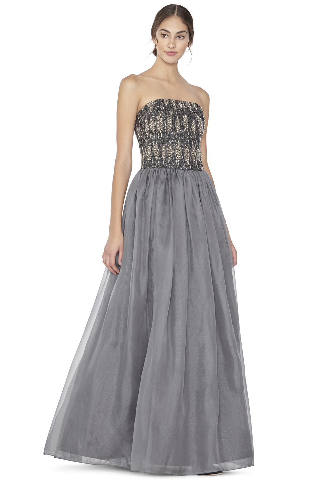 Alice   olivia Abella Long Ball Gown Skirt in Gray | Lyst