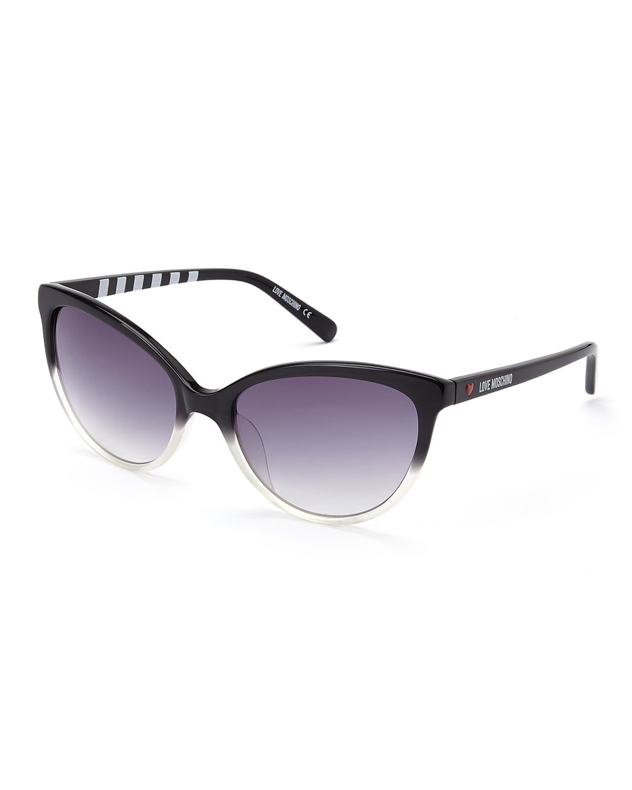 35c8a466d8f Lyst - Love Moschino Ml50601 Two-Tone Cat Eye Sunglasses in Black