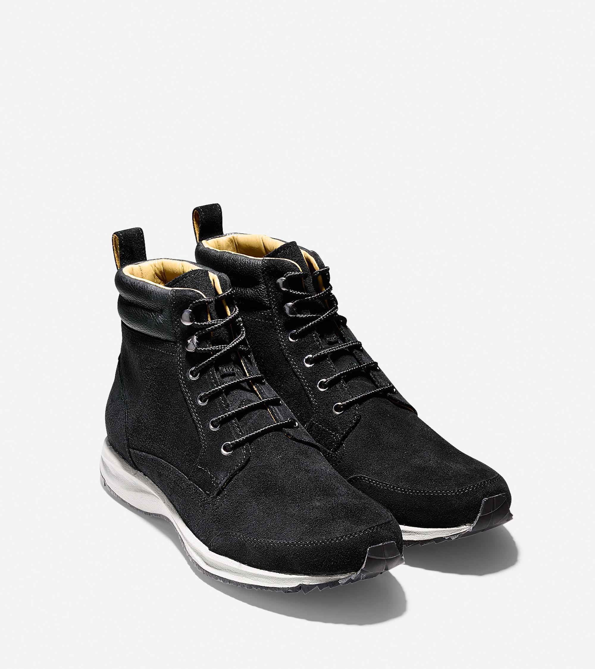 cole haan branson waterproof sneaker boot in black for