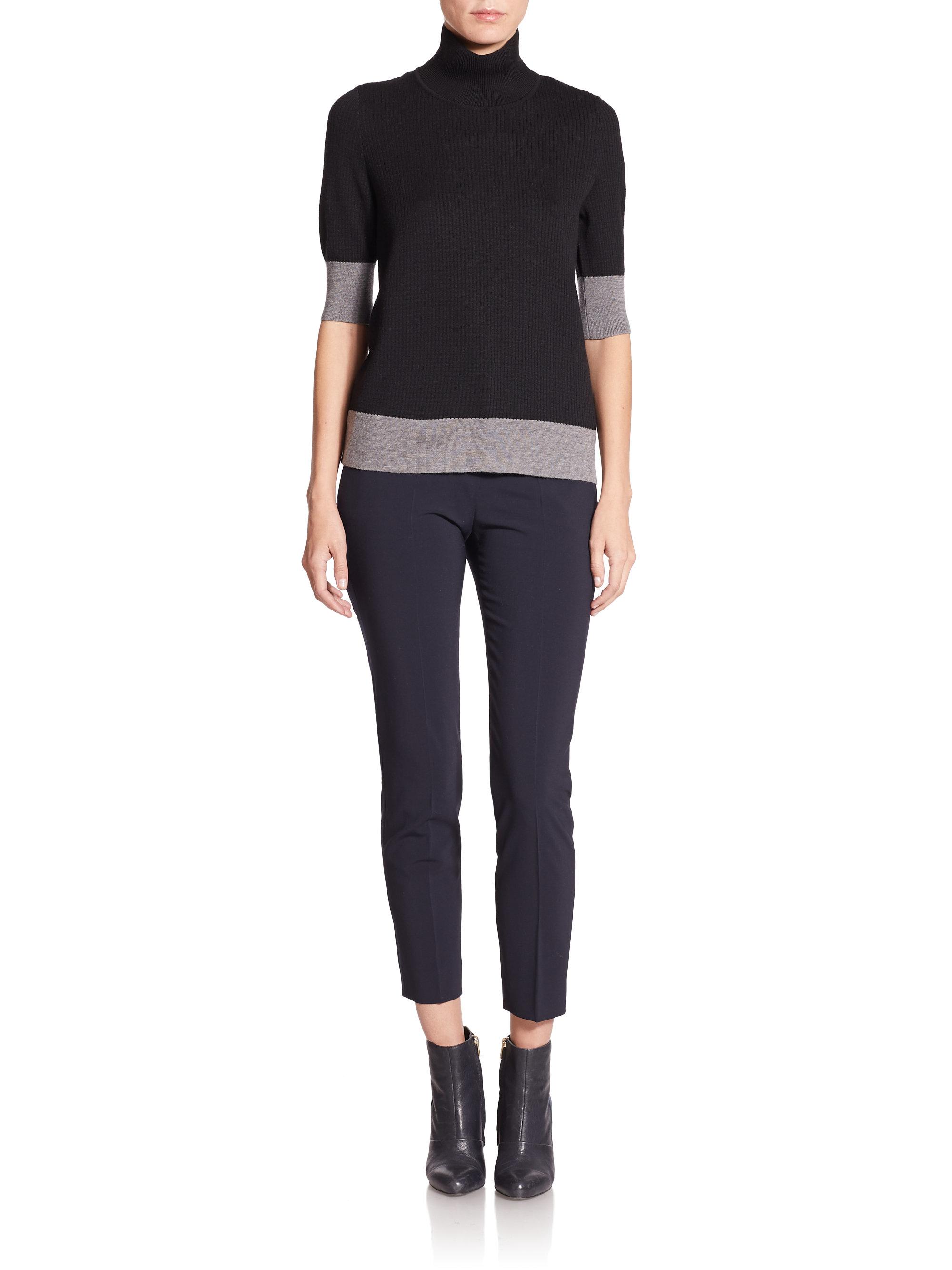 Turtleneck Lyst In Piazza Black Sweater Sempione Colorblock Wool rInc6WwFIq