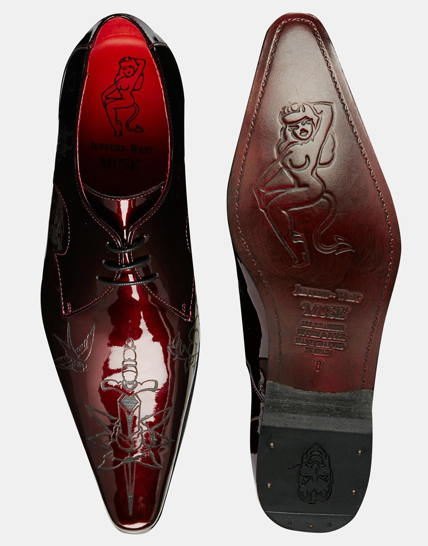 lyst jeffery west tattoo shoes in red for men