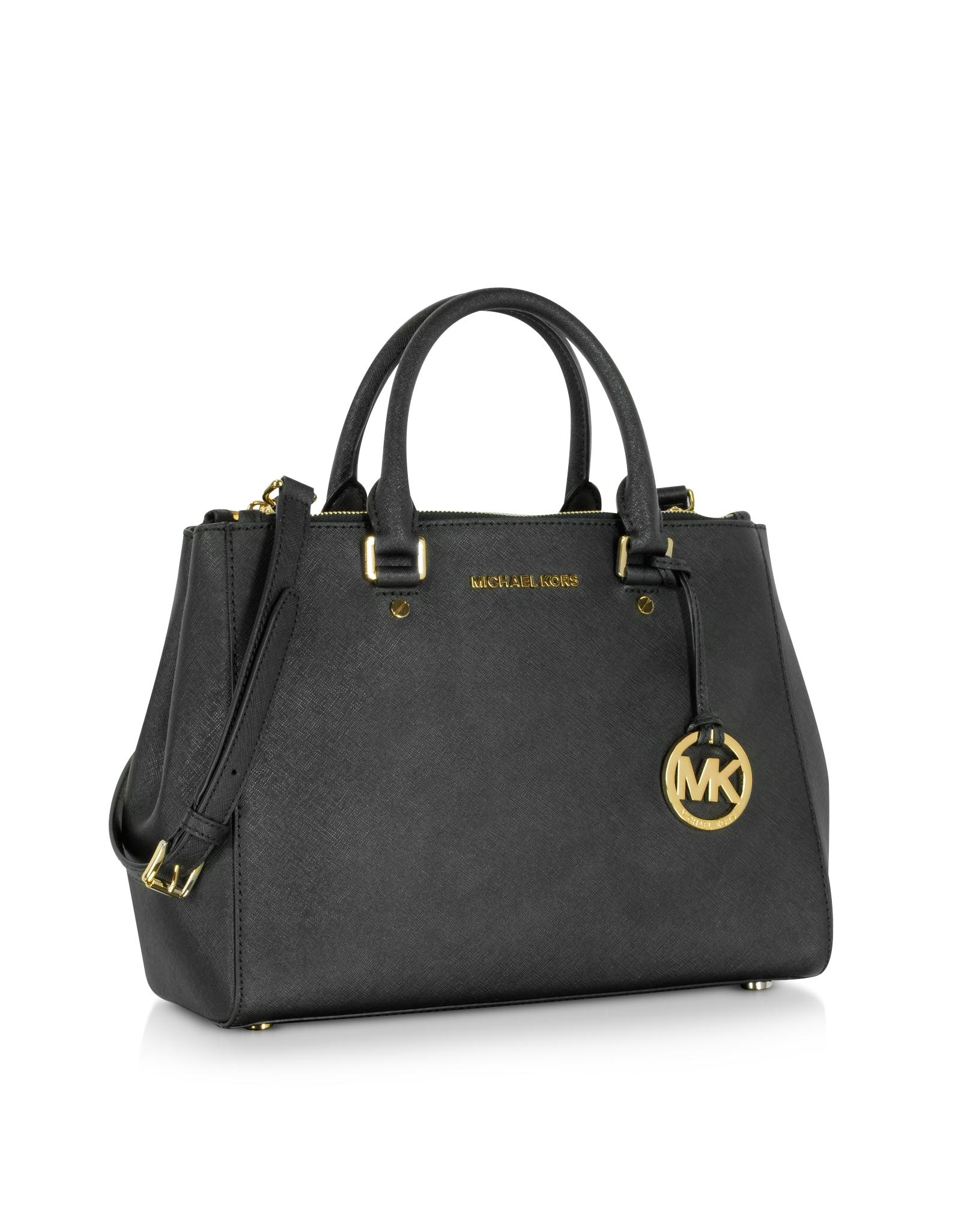 ... canada lyst michael kors sutton medium saffiano leather satchel bag in  black 42dcd 543be 670684779ff1b