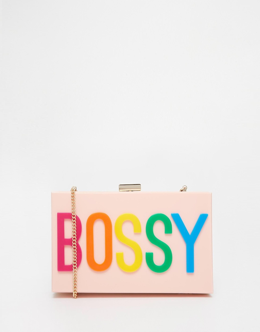 Lyst Aldo Bossy Clutch Bag In Pink