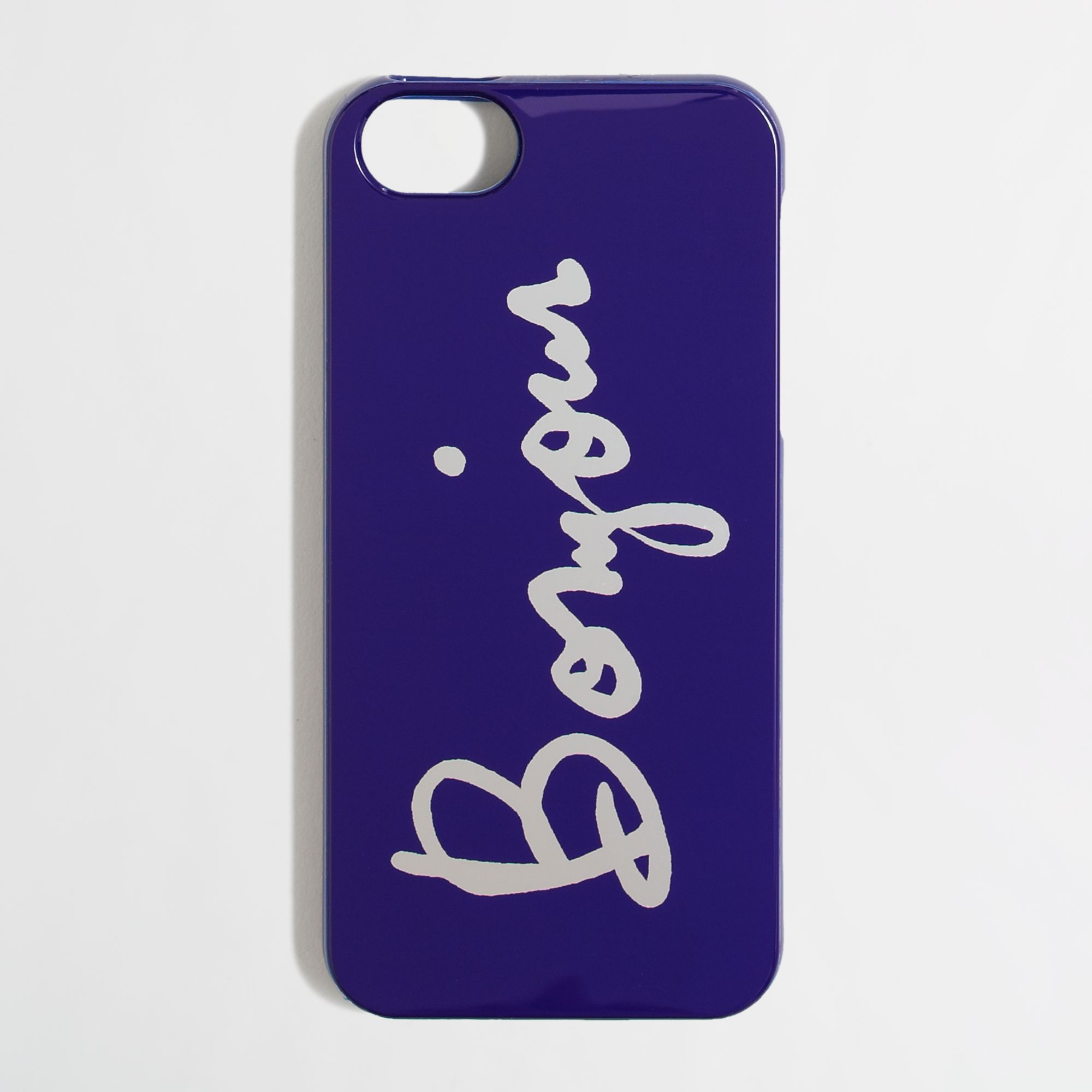 J Crew Factory Bonjour Phone Case For Iphone 5 In Blue Lyst