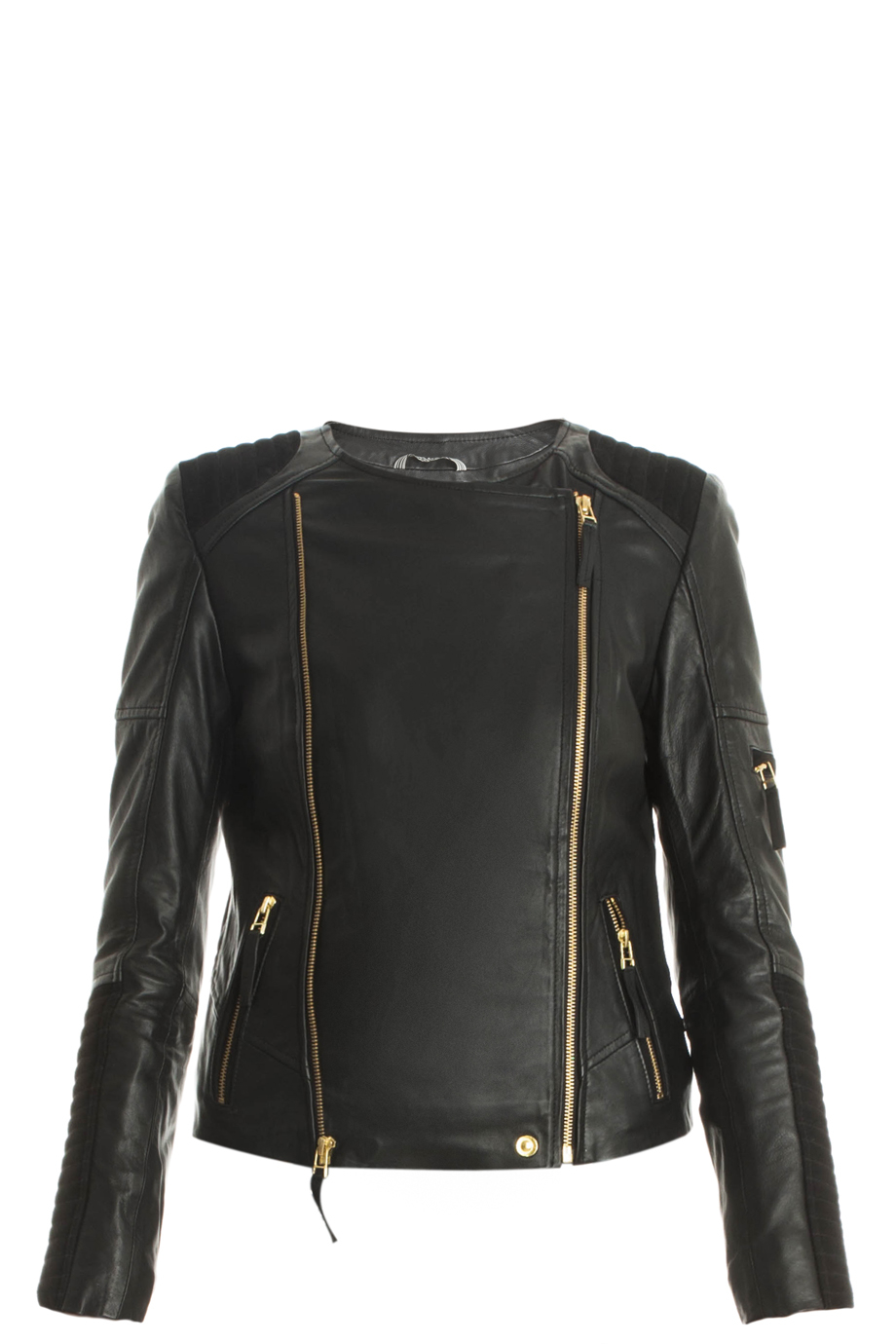 lyst day birger et mikkelsen leather jacket in black. Black Bedroom Furniture Sets. Home Design Ideas