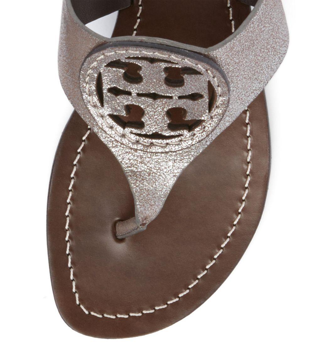 f3e30610b25 Lyst - Tory Burch Louisa Flat Thong Sandal in Metallic