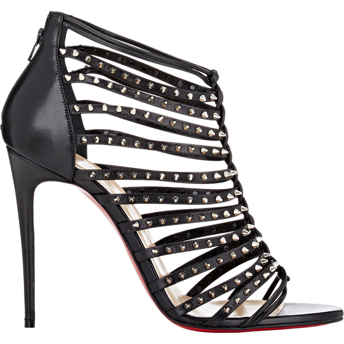 buy replica shoes online - christian louboutin wedges Black leather silver-tone hardware ...