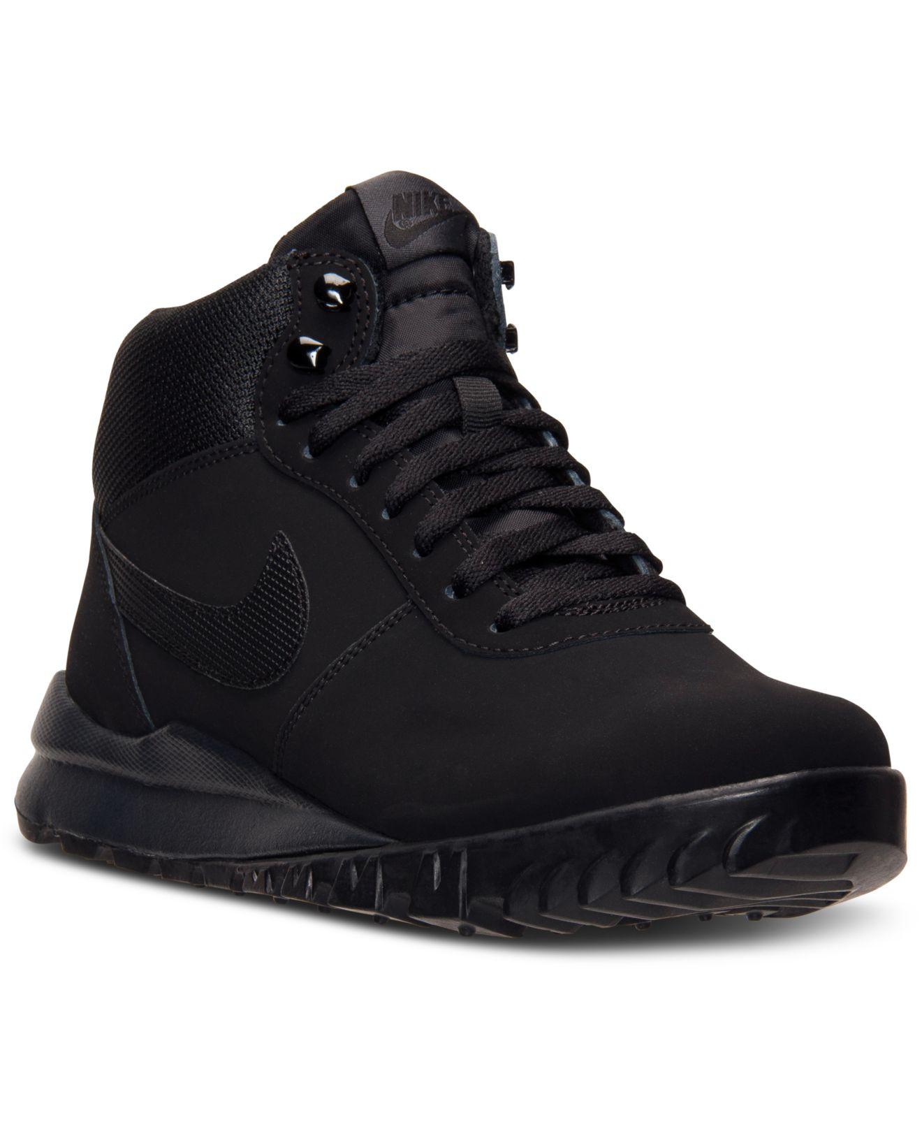nike s hoodland suede boots from finish line in black