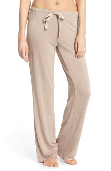 Natori Wide Leg Lounge Pants in Natural | Lyst