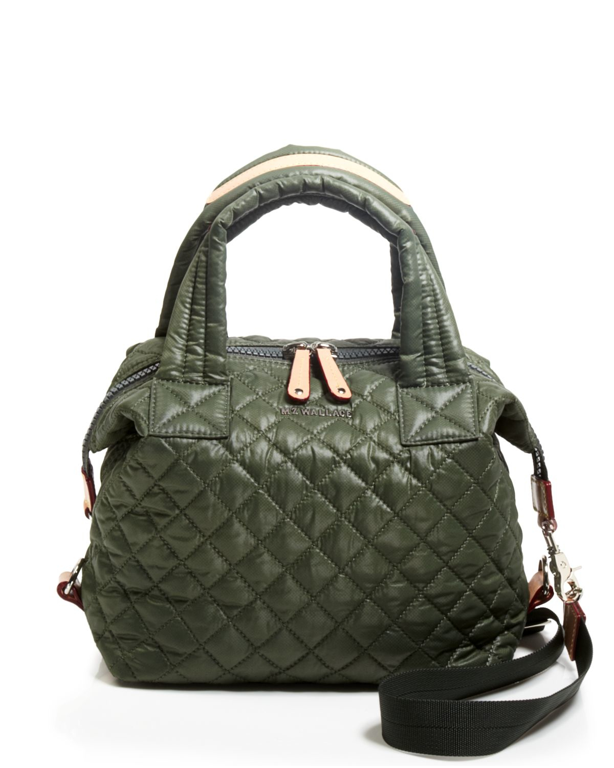 Mz Wallace Satchel Small Sutton In Green Lyst