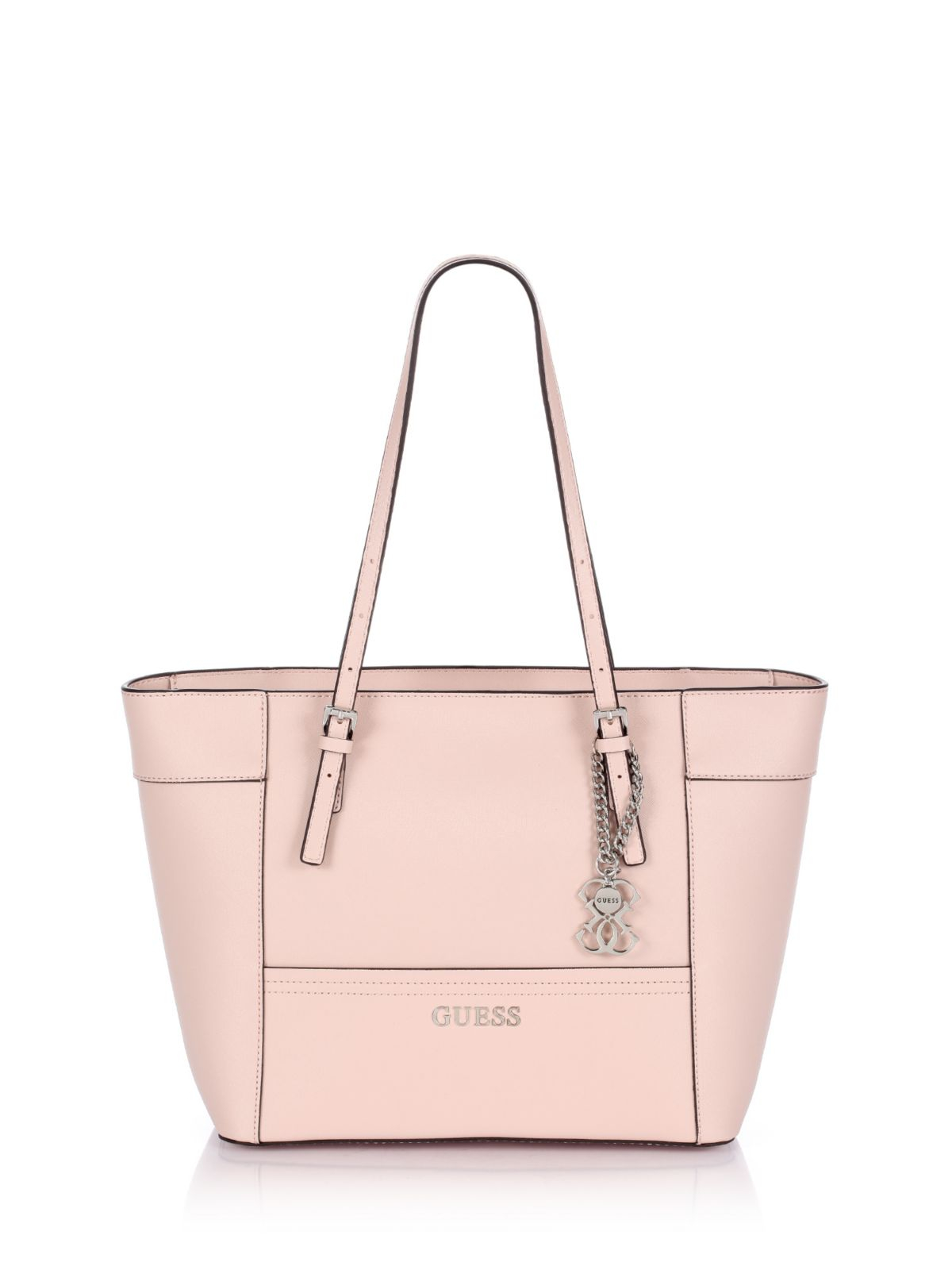 Guess Delaney Small Classic Tote Bag in Pink | Lyst