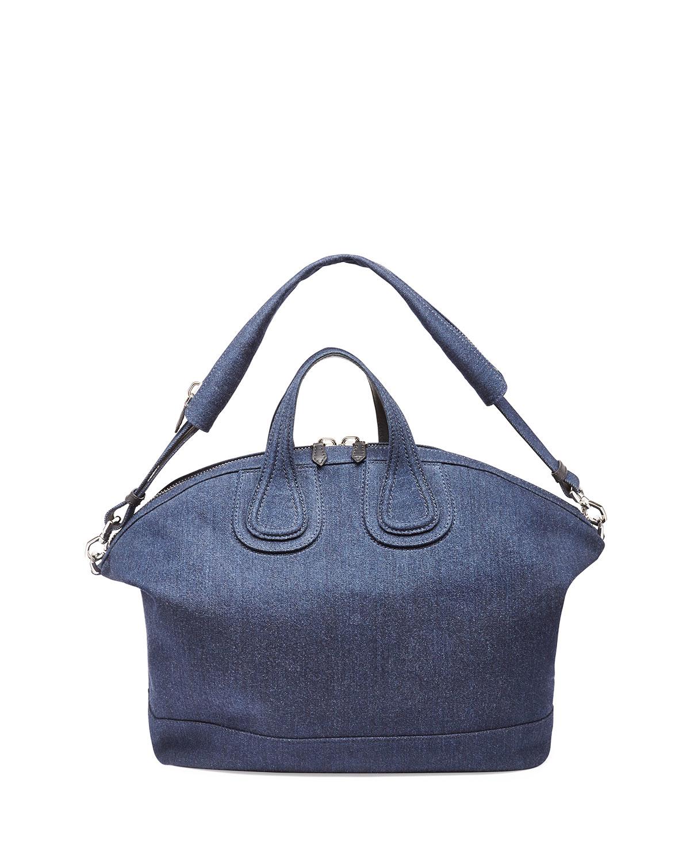 5ea8ec43e0e6 Lyst - Givenchy Nightingale Denim Satchel Bag in Blue