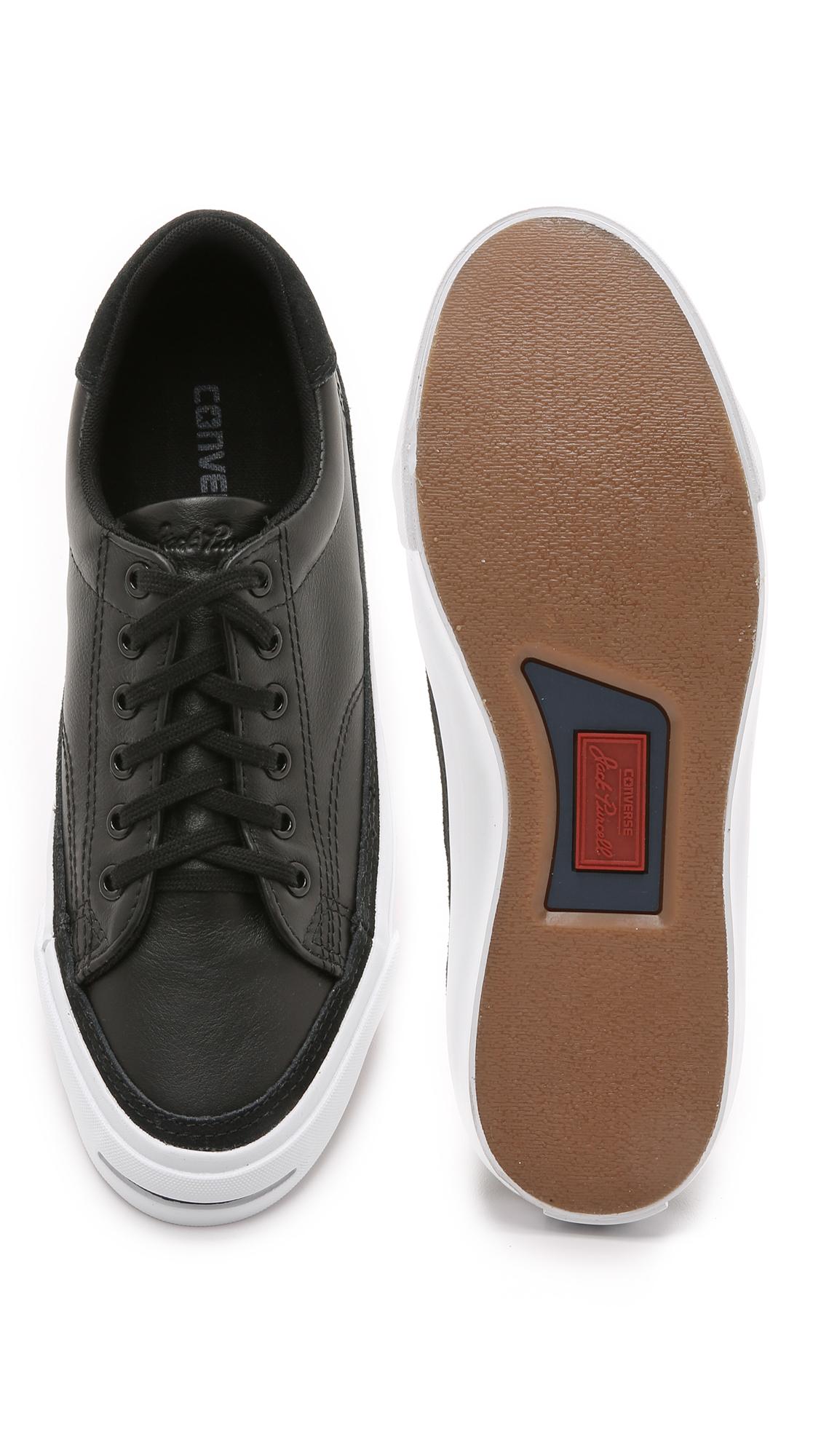 791f785c3138 ... australia converse jack purcell ii leather sneakers in black for men  lyst fba89 fe5aa