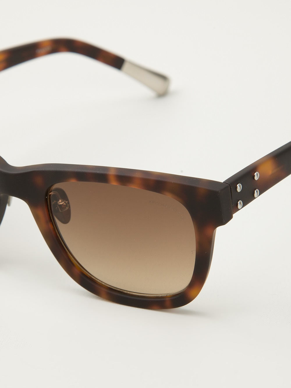 Vans Glasses Frame : Kris van assche Square Frame Sunglasses in Brown for Men ...