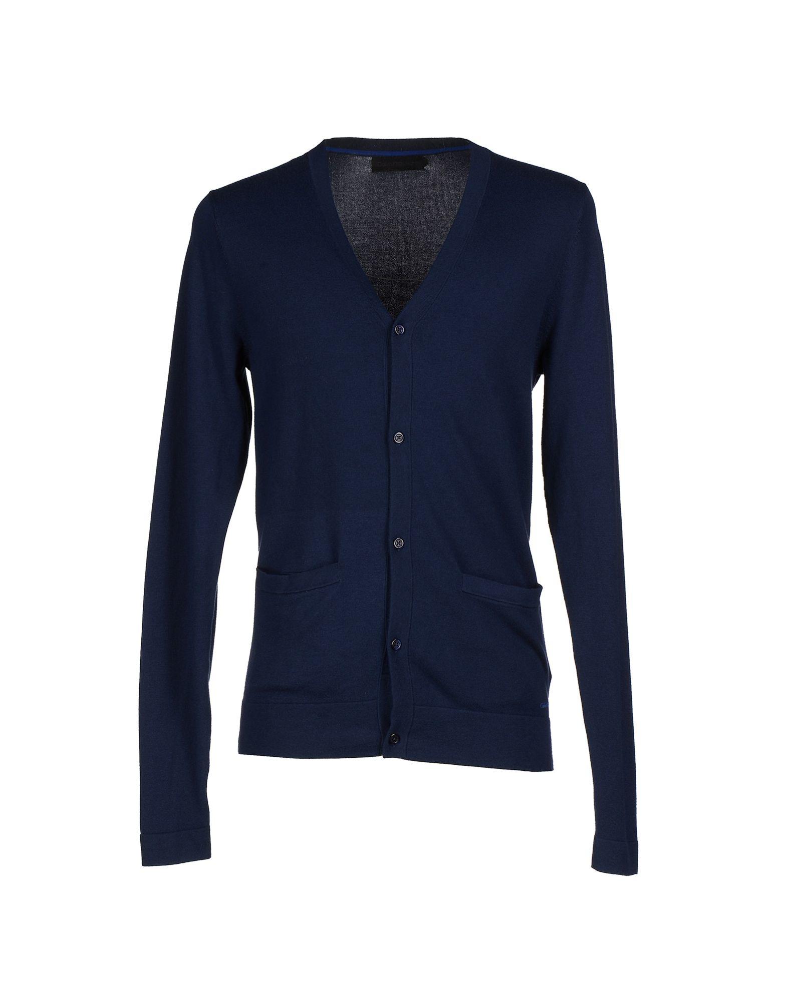 lyst calvin klein jeans cardigan in blue for men. Black Bedroom Furniture Sets. Home Design Ideas