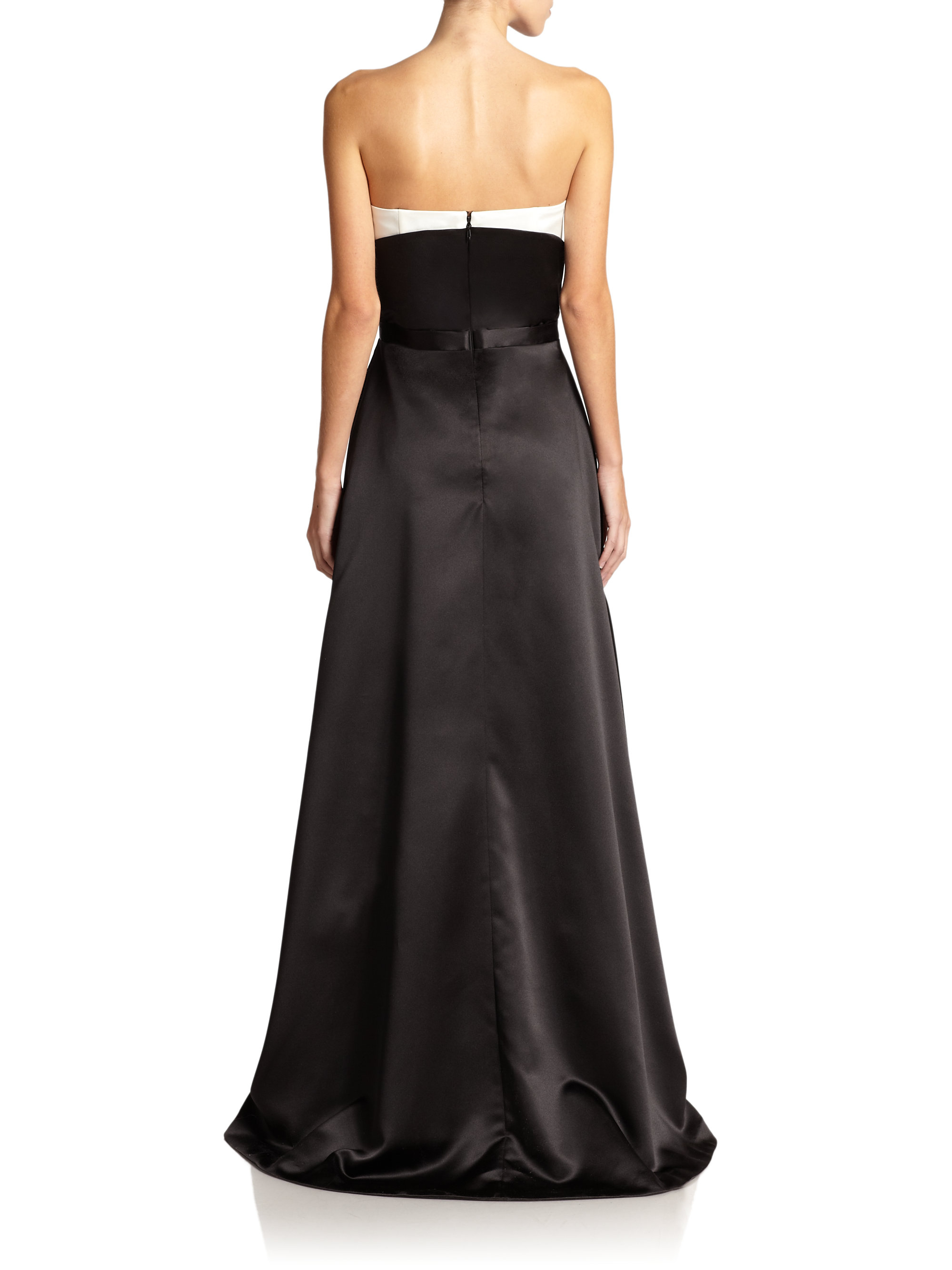 Lyst Nha Khanh Alice Strapless Wrap Gown In Black