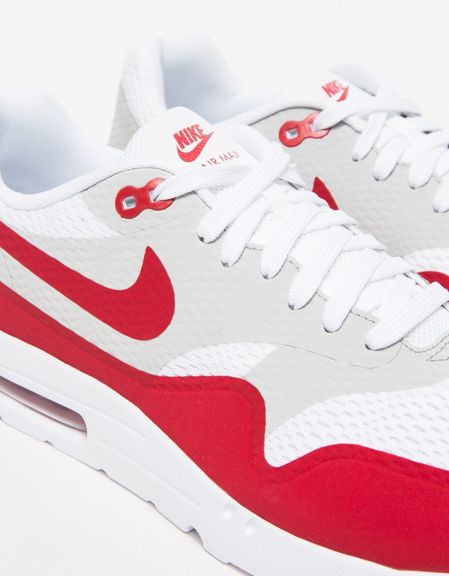 best service d0564 b3343 Lyst - Nike Air Max 1 Ultra Essential in Red for Men