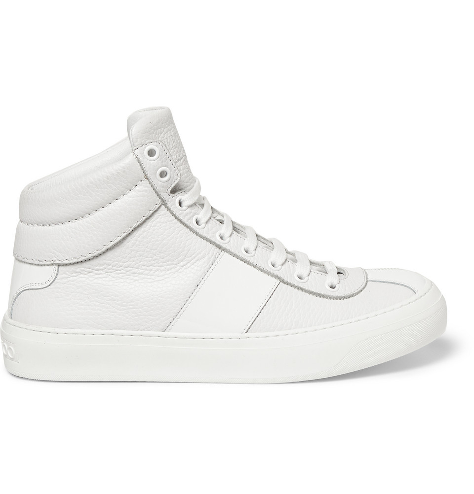 c9ea9759b43a Lyst - Jimmy Choo Belgravia Fullgrain Leather High Top Sneakers in ...