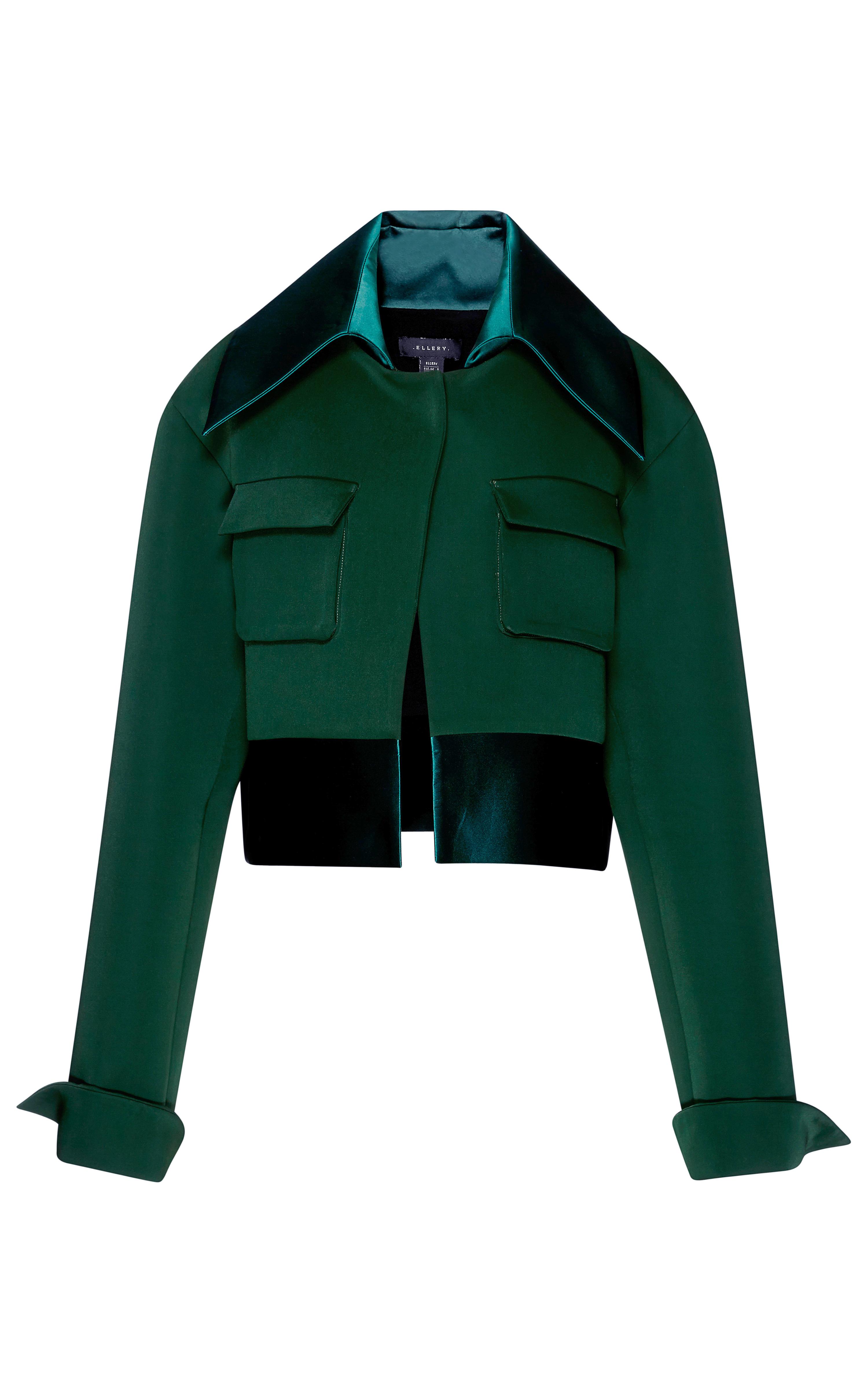 Ellery Boxy Jacket - Forest Green in Green | Lyst
