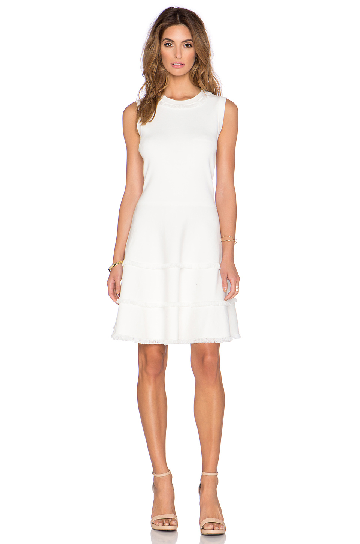 Lyst Kate Spade New York Fringe Sweater Dress In White