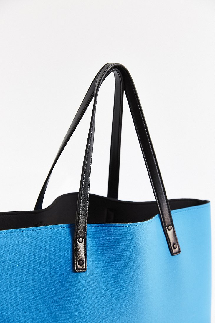 Urban outfitters Neoprene Beach Tote Bag in Blue | Lyst