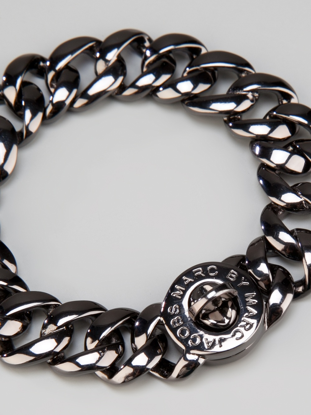 Marc By Marc Jacobs Chunky Chain Link Bracelet In Metallic