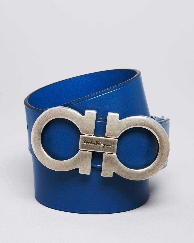 Lyst - Ferragamo Handcuff Buckle Belt in Blue for Men 56754053261a