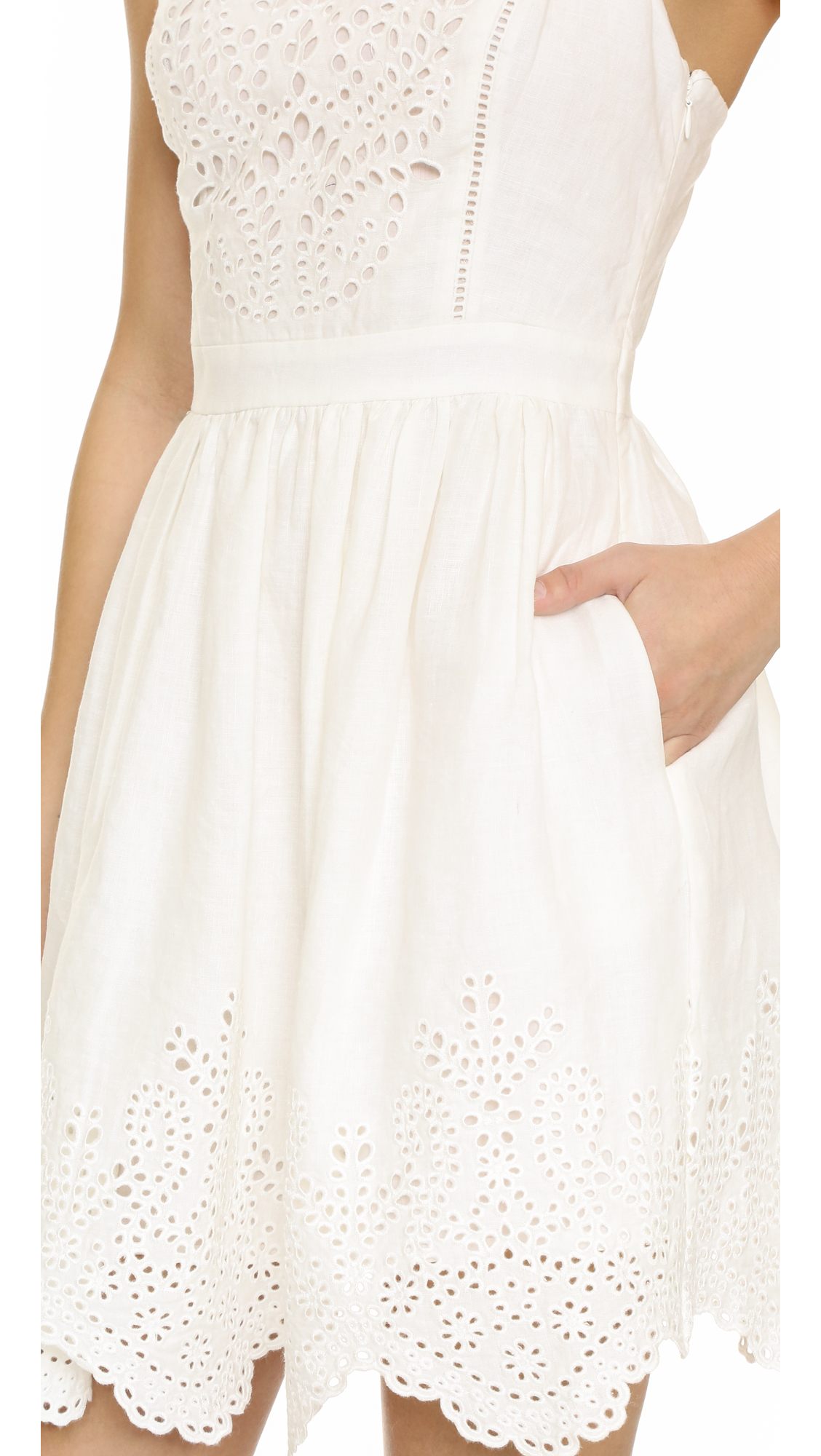 Joie Ornata Embroidered Eyelet Dress In White Lyst