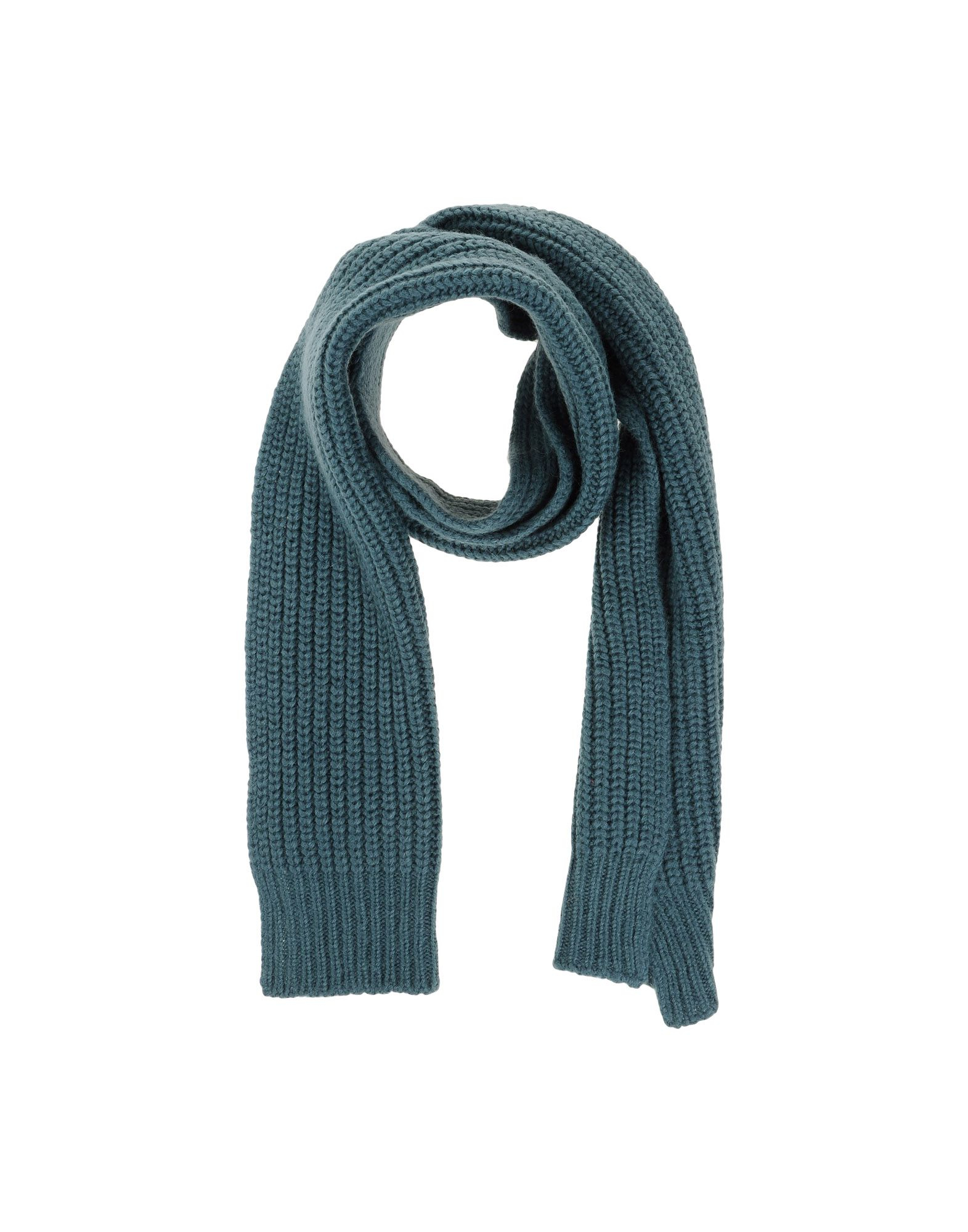 closed oblong scarf in gray slate blue lyst