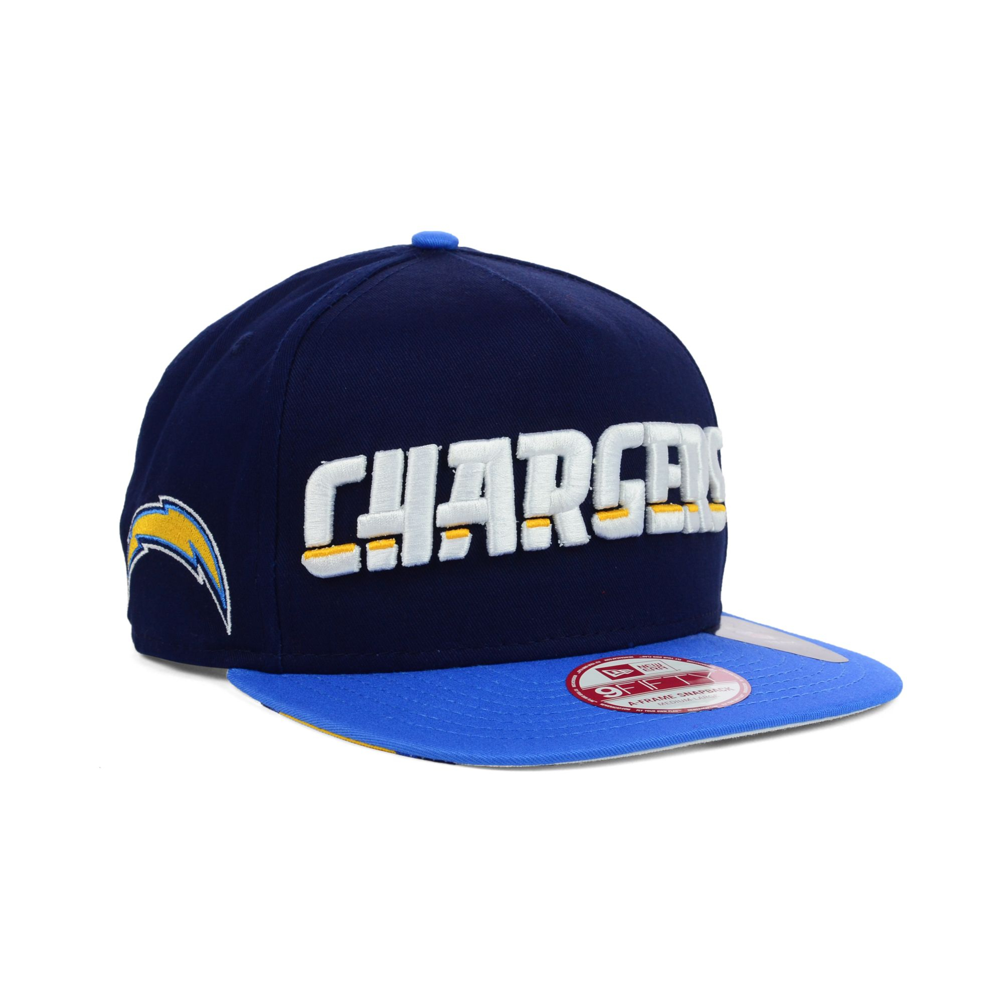 San Diego Chargers Cap: New Era San Diego Chargers Flip Up Redux 9fifty Snapback