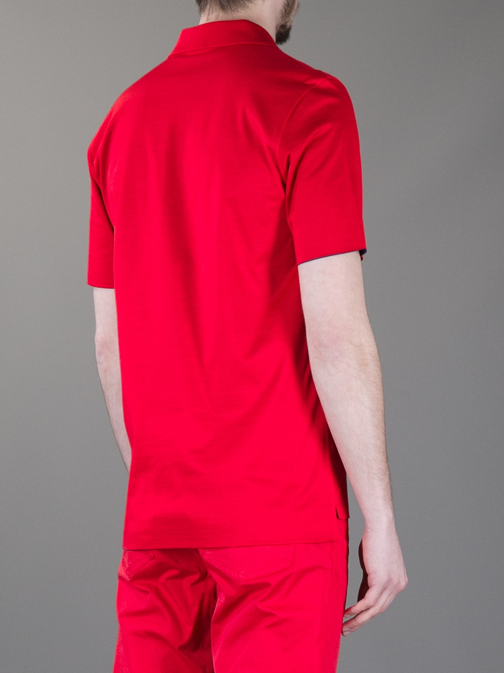Lyst Balenciaga Reversible Polo Shirt In Red For Men