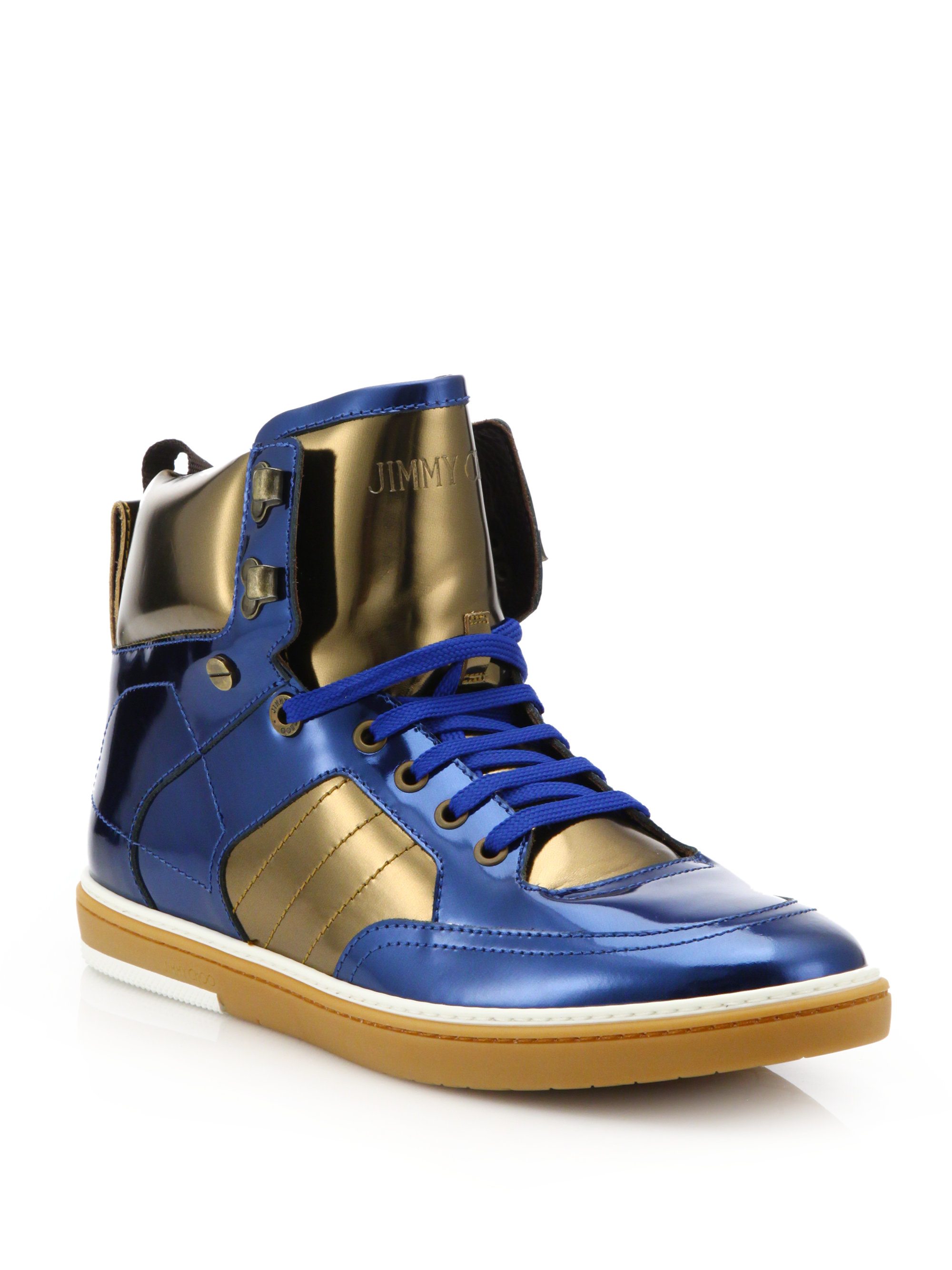 latest cheap price Jimmy Choo Metallic High-Top Sneakers official site online shop from china shop cheap online manchester great sale online 8LTzFfkBTN